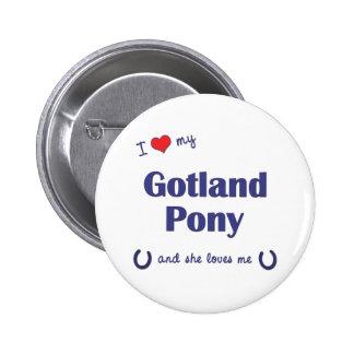 私は愛しますゴトランドの私の子馬(メスの子馬)を 5.7CM 丸型バッジ