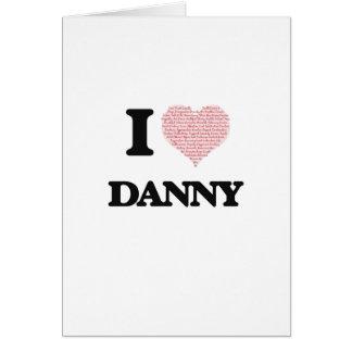私は愛しますダニー(愛単語からなされるハート)を グリーティングカード