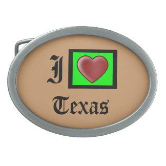 """""""私は愛しますテキサス州のアメリカのファッションのベルトの留め金""""を 卵形バックル"""