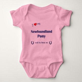 私は愛しますニューファウンドランドの私の子馬(オスの子馬)を ベビーボディスーツ