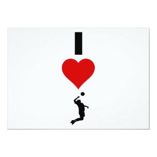 私は愛しますバレーボールの垂直(男性)を カード