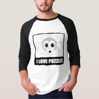 私は愛しますパズル(猿の一見)を Tシャツ