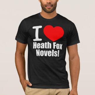 私は愛しますヒースのキツネ小説のTシャツ(黒)を Tシャツ