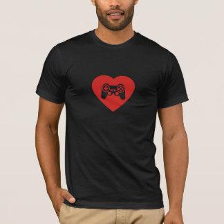 私は愛しますビデオゲーム(ハートのゲームのコントローラー)を Tシャツ