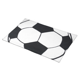 私は愛しますフットボール(サッカー)を ランチョンマット