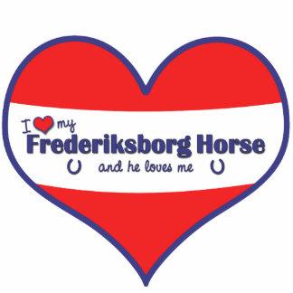 私は愛しますフレデリックスボルの私の馬(雄の馬)を フォトスカルプチャー