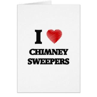 私は愛します煙突の掃除人(単語からなされるハート)を カード