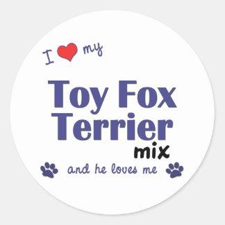 私は愛します私のおもちゃのフォックステリア犬の組合せ(オス犬)を ラウンドシール