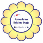 私は愛します私のアメリカのエスキモー犬(多数犬)を 切り抜き