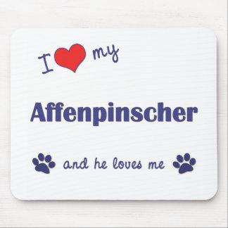 私は愛します私のアーフェンピンシャー(オス犬)を マウスパッド
