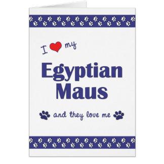 私は愛します私のエジプトのMaus (多数猫)を カード