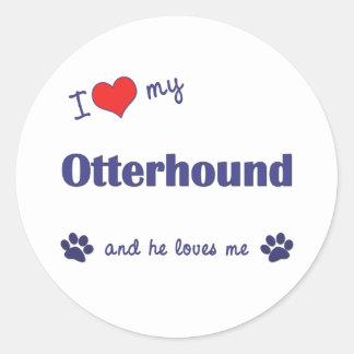 私は愛します私のカワウソ猟犬(オス犬)を ラウンドシール