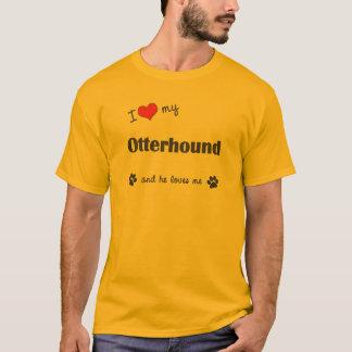 私は愛します私のカワウソ猟犬(オス犬)を Tシャツ
