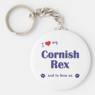 私は愛します私のコーニッシュのレックス(オス猫)を キーホルダー