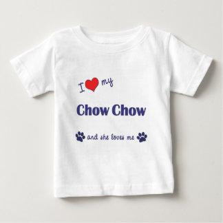 私は愛します私のチャウチャウ(メス犬)を ベビーTシャツ