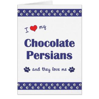 私は愛します私のチョコレートペルシャ人(多数猫)を カード