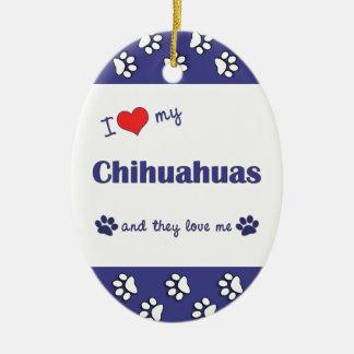 私は愛します私のチワワ(多数犬)を セラミックオーナメント