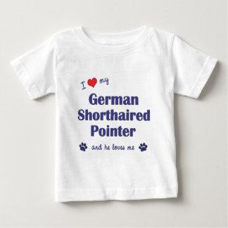 私は愛します私のドイツShorthairedポインター(オス犬)を ベビーTシャツ