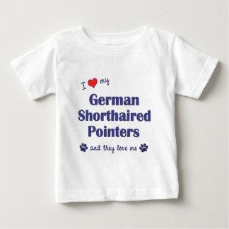 私は愛します私のドイツShorthairedポインター(数々のな犬)を ベビーTシャツ