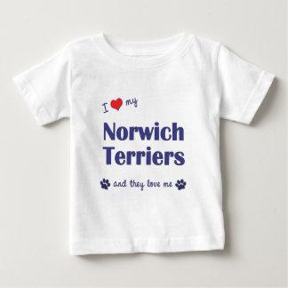 私は愛します私のノリッジテリア(多数犬)を ベビーTシャツ