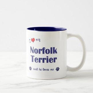 私は愛します私のノーフォークテリア(オス犬)を ツートーンマグカップ