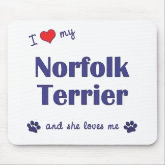 私は愛します私のノーフォークテリア(メス犬)を マウスパッド