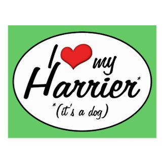 私は愛します私のハリアー(それは犬です)を ポストカード