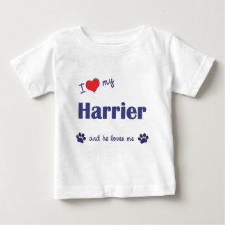 私は愛します私のハリアー(オス犬)を ベビーTシャツ