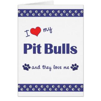 私は愛します私のピット・ブル(多数犬)を カード