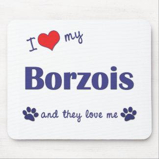 私は愛します私のボルゾイ(多数犬)を マウスパッド