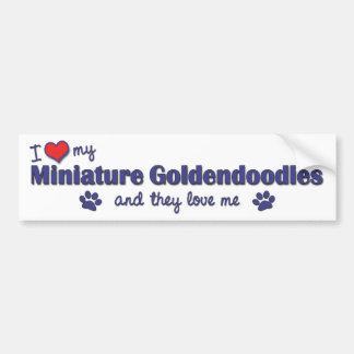 私は愛します私のミニチュアGoldendoodles (多数犬)を バンパーステッカー