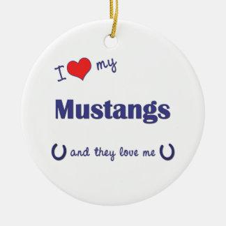 私は愛します私のムスタング(多数の馬)を セラミックオーナメント