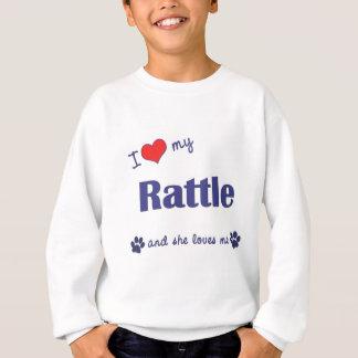 私は愛します私のラッセル音(メス犬)を スウェットシャツ