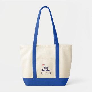 私は愛します私のラットテリア(メス犬)を トートバッグ