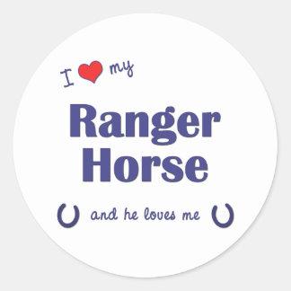 私は愛します私のレーンジャーの馬(雄の馬)を ラウンドシール