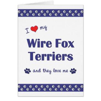 私は愛します私のワイヤーフォックステリア犬(多数犬)を カード