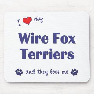 私は愛します私のワイヤーフォックステリア犬(多数犬)を マウスパッド