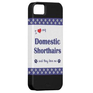 私は愛します私の国内Shorthairs (多数猫)を iPhone SE/5/5s ケース