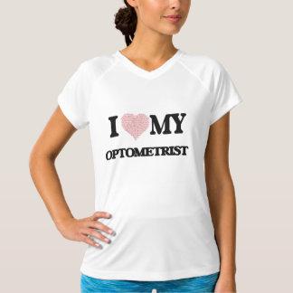 私は愛します私の検眼医(単語からなされるハート)を Tシャツ