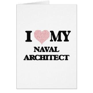 私は愛します私の海軍建築家(単語からなされるハート)を カード