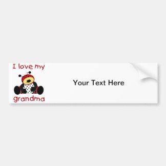 私は愛します私の祖母(男の子のてんとう虫)を バンパーステッカー