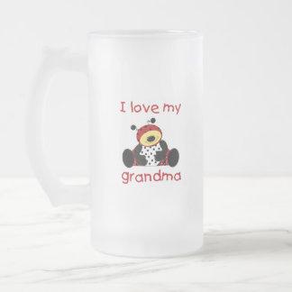 私は愛します私の祖母(男の子のてんとう虫)を フロストグラスビールジョッキ
