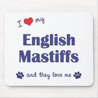 私は愛します私の英国のマスティフ(多数犬)を マウスパッド