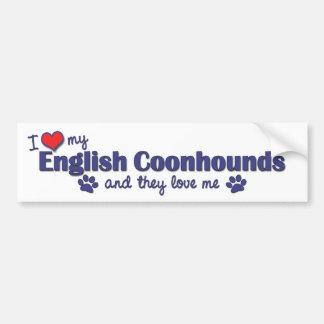 私は愛します私の英国のCoonhounds (多数犬)を バンパーステッカー
