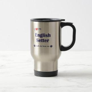 私は愛します私の英国セッター(メス犬)を トラベルマグ