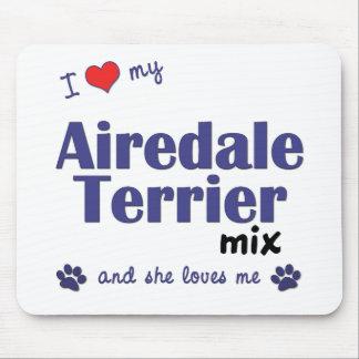 私は愛します私のAiredaleテリアの組合せ(メス犬)を マウスパッド