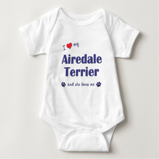 私は愛します私のAiredaleテリア(メス犬)を ベビーボディスーツ