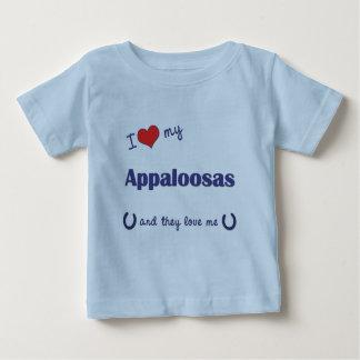 私は愛します私のAppaloosas (多数の馬)を ベビーTシャツ