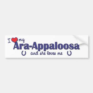 私は愛します私のAra Appaloosa (雌馬)を バンパーステッカー