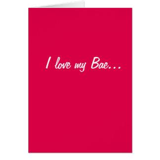 私は愛します私のBaeを… Baecon。 ベーコン! カード